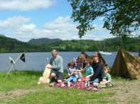 Visitors at Swallows and Amazons Camp