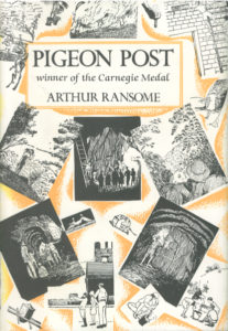 cover of jonathan cape edition of pigeon post