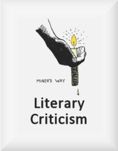 Ransome's drawing of a hand holding a candle, our literary criticism logo