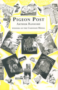 cover of red fox edition of pigeon post
