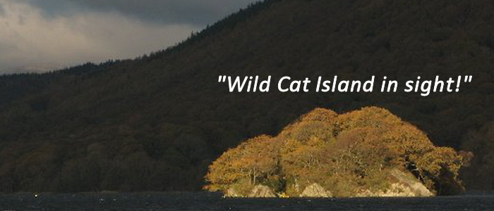 Photo of Peel Island, an inspiration for Ransome's Wild Cat Island