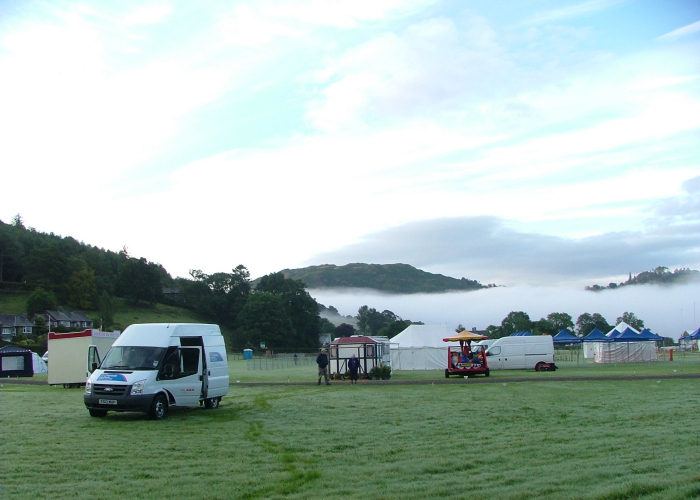 Arrival at Grasmere Sports