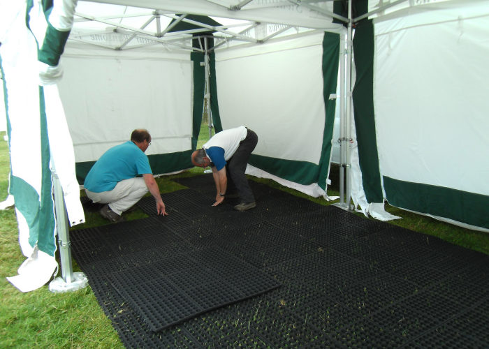 Preparations at the Coniston Country Fair