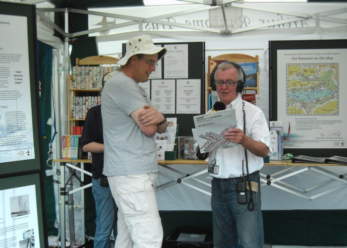 With Radio Cumbria at Coniston Country Fair